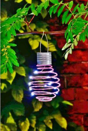 G19 Mini Solar Spiral Lantern with 15 Bright White LEDs Lights