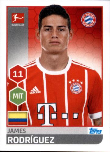 Sticker 222 TOPPS Bundesliga 2017//2018 James Rodriguez