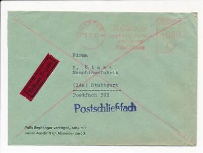 Betr Graph Giradet Essen 1953 Geschickte Herstellung Ehrlich 611354 Bund Eilboten Fst Blg