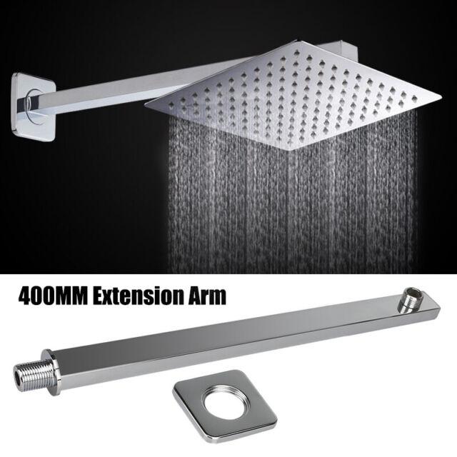 Chrome 400mm Stainless Steel Shower Arm Bar Holder For Shower Head
