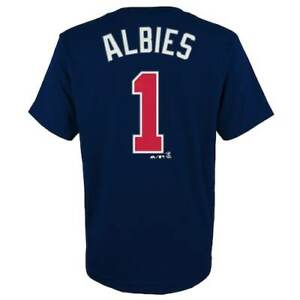 Ozzie-Albies-Atlanta-Braves-Majestic-Authentic-Youth-Jersey-T-Shirt-Boys