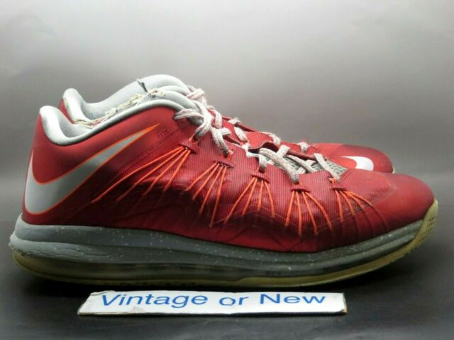 pegar Seguir Escribe email  Size 12 - Nike Air Max LeBron 10 Low University Red 2013 for sale online |  eBay