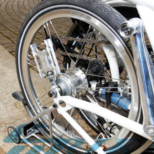 Bike Pedals Left Quick Release For Brompton Bicycle CNC Pedals Titanium Axles