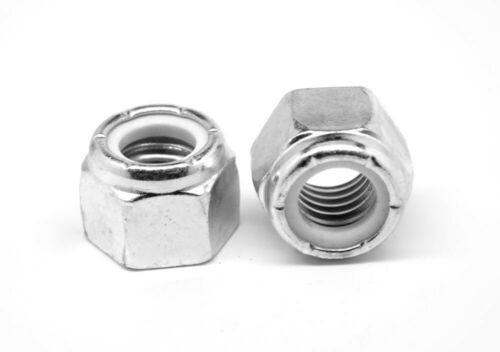 M12 x 1.75 Coarse Class 10 Nyloc Nylon Insert Locknut Standard Zinc
