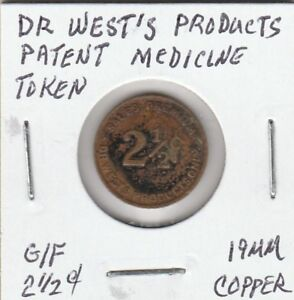Q-Token-Dr-West-039-s-Products-Patent-Medicine-Token-19-MM-Copper