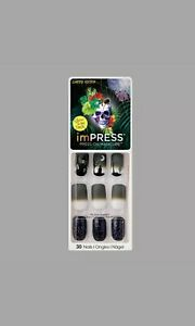 KISS* imPRESS Press-On FANTASY 30 Nails+Accent HALLOWEEN ...