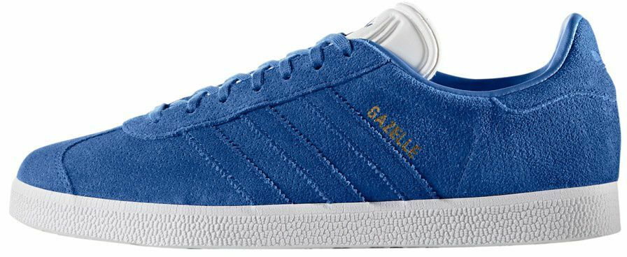 ADIDAS ORIGINALS MENS GAZELLE TRAINERS blueE WHITE ALL SIZES 7.5 TO 11.5
