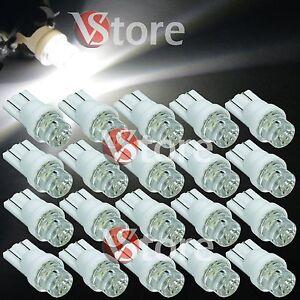 20-Lampade-LED-T10-CONCAVE-BIANCO-Luci-Lampadine-Per-Targa-e-Posizione-W5