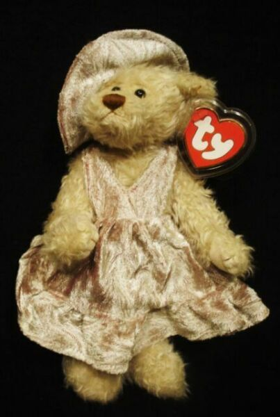 mint w//tag Ty Attic Treasures Darlene bear in dress jointed limbs