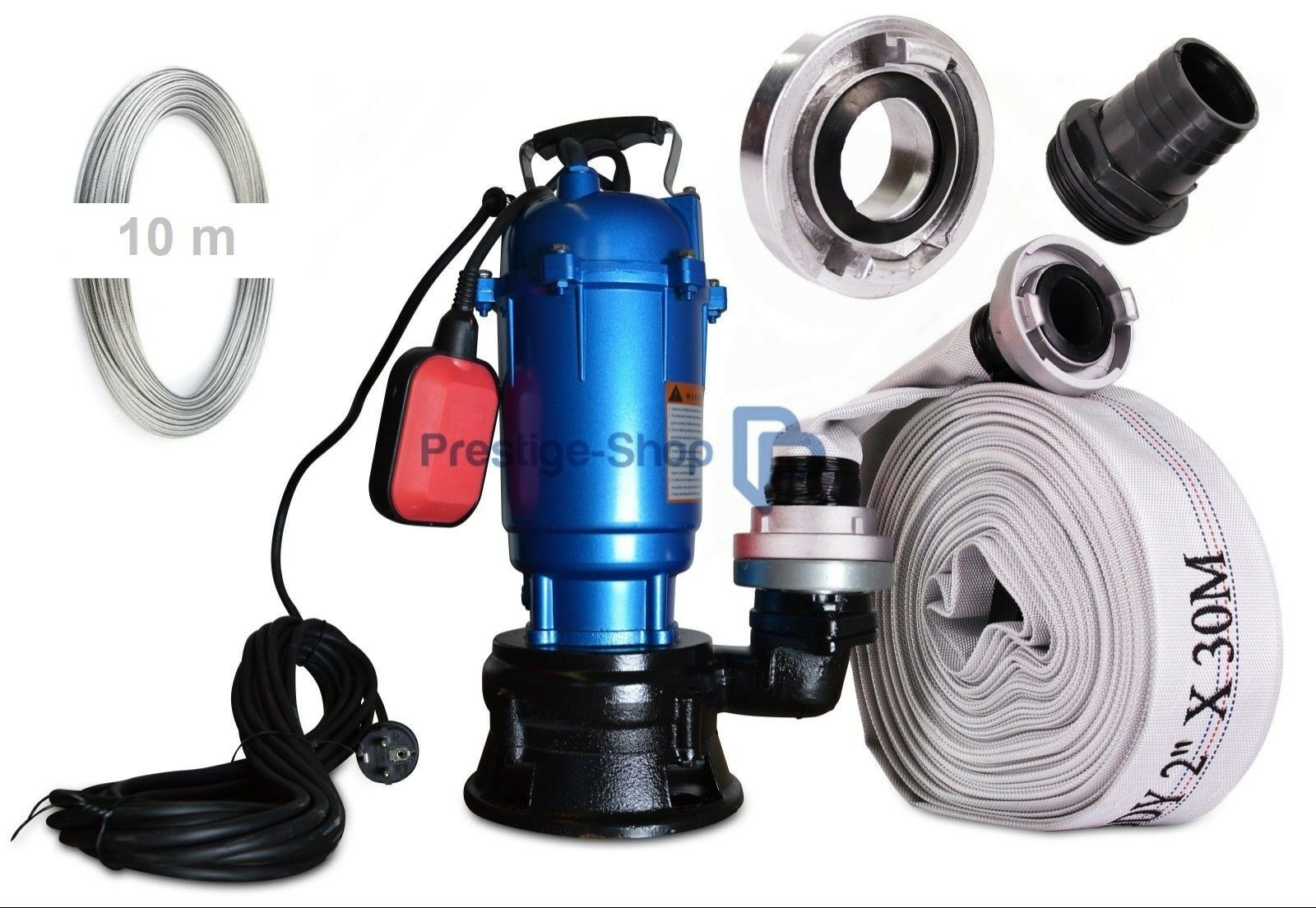 ➠ POMPA SOMMERSA 550 Watt ➠ acqua sporca pompa ➠ feci POMPA ➠ GALLEGGIANTE +20m TUBO 2