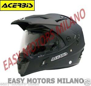 0016049-090-ACERBIS-CASCO-MOTO-CROSS-SUPER-MOTARD-ACTIVE-NERO-XS-S-M-L-XL-XXL