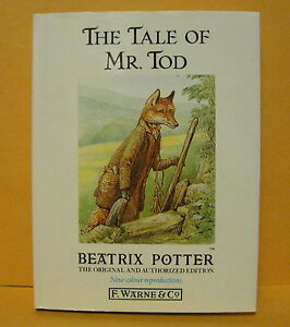 THE-TALE-OF-MR-TOD-BEATRIX-POTTER-ORIGINAL-AUTHORIZED-EDITION-F-WARNE-CO-NEW
