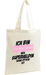 Shopping-Bag-Organic-Zen-Shopper-Ich-bin-Patentante-weil-Superheldin-keine-Opti