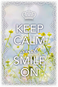 Keep-Calm-And-Smile-sur-Panneau-Metallique-Plaque-Voute-Etain-Signer-20-X-30-CM
