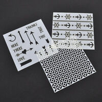 Layering Stencils DIY Scrapbooking Album Masking Spray Painted  Drawing Template