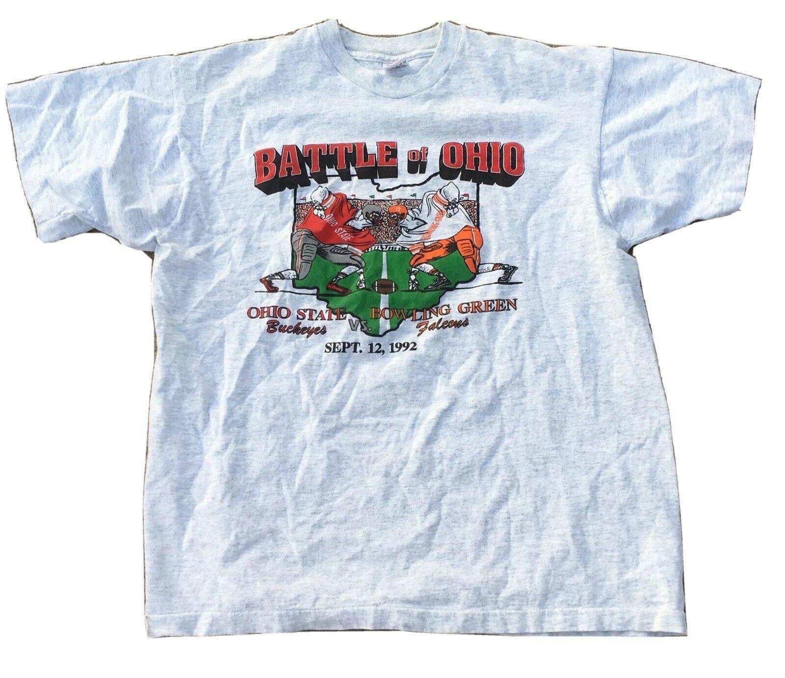 ヴィンテージ Battle Of Ohio State Buckeyes VS ボウリンググリーン ファルコン 1992 Tシャツ
