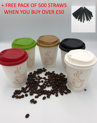 Disposable Paper COFFEE//TEA CUPS /& SIP LIDS Catering-Takeaway