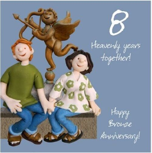 8th Wedding Anniversary.8th Wedding Anniversary Card By Holy Mackerel