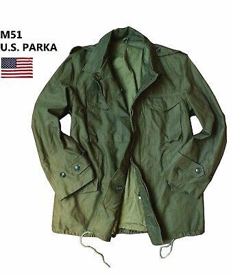 Small//Medium//Large NATO Genuine VTG U.S Army M51 Military Parka Jacket Green