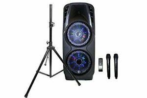 EMB-PKL5000-7-Hours-Rechargeable-Speaker-SD-MMC-USB2x-Speaker-Stand-Work-w-BT