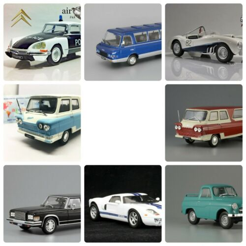 Set of 8 Cars 1//43 Scale Diecast Collectible Models