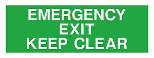1 X Sortie D'urgence Keep Clear Sticker L0wcsscw-07224154-589657503