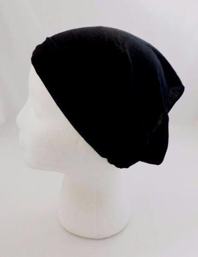 Wide Headband Thin Cotton Blend Fabric Wear Thick Thin Kerchief Dark Colors