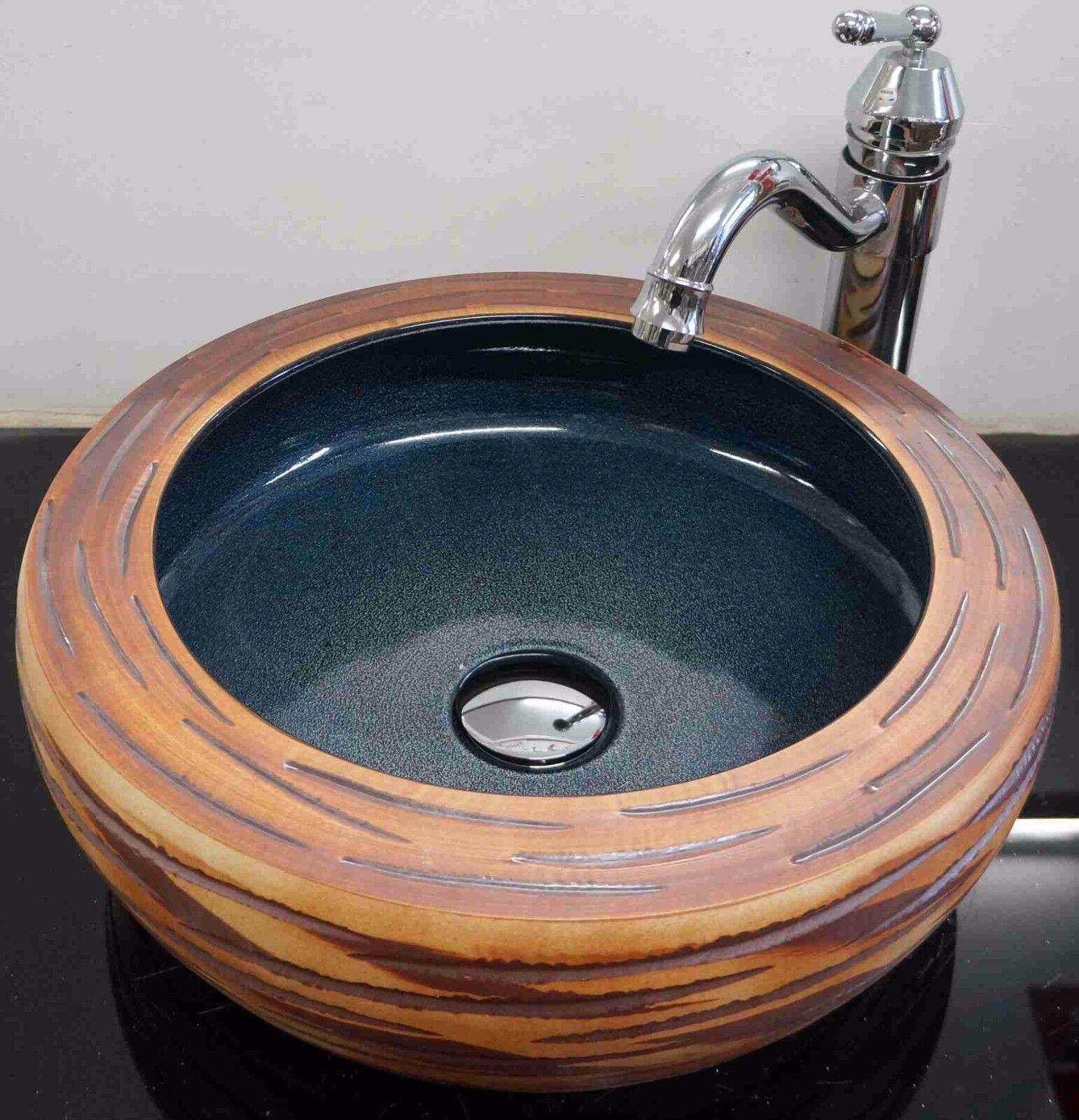 Effet Pierre Salle de Bain Vestiaire en céramique de comptoir lavabo évier Lavage Bol