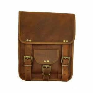 New Retro Men/'s Genuine Cow Leather Shoulder Bag Messenger Travel Bag Briefcase