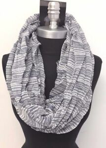 Quality Winter Weight Blue Paisley Print Circle Loop Infinity Scarf Snood New