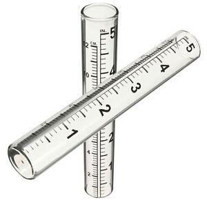 Tube-Garten-Lawn-Wettermessung-NEU-5-034-Regenmesser-Ersatz-Clar-Glas-Rain-Gauge