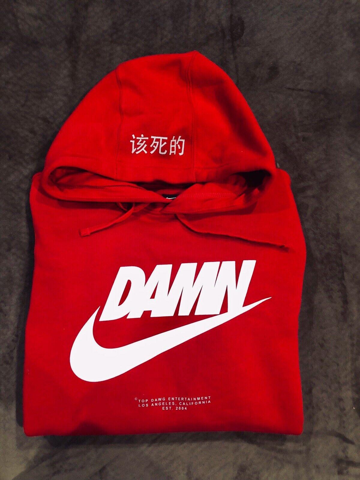 pretty nice 3abd6 50058 Kendrick Lamar X Nike TDE Pop Up Hoodie Size: (L) Red Damn & Caricature T  (M)