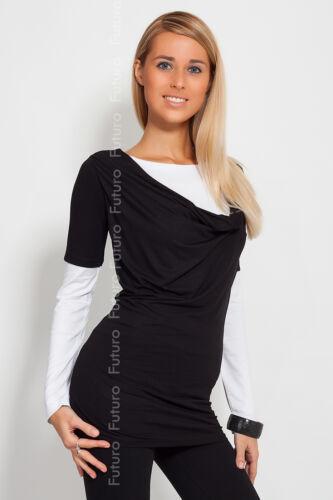 Trendy /& Plain Women/'s Tunic Long Sleeve Cowl Neck Mini Dress Top Size 8-12 2035
