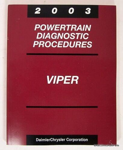 2003 Dodge Viper SRT-10 Engine Technical Book Manual