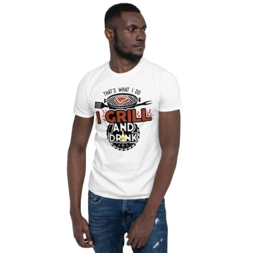 Summer BBQ T-Shirt Short-Sleeve T-Shirt Dad Uncle Grandpa Grillin