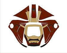 3M SPEEDGLAS 9100 V X XX AUTO SW WELDING HELMET DECAL STICKER iron man brown