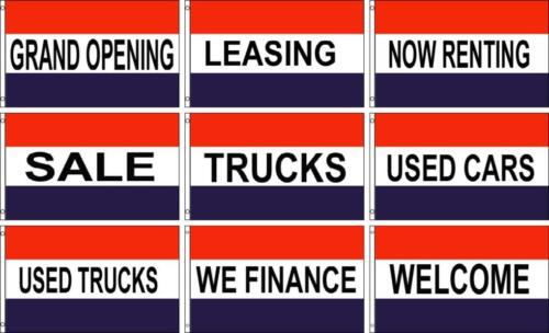 TRUCK 3ft x 5ft Polyester Flags GRAND OPENING USED CAR FINANCE WELCOME SALE
