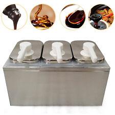 Silver 3 Head Pump Dispenser Condiment Sauce Dispenser Thick Fructose Jam Pump