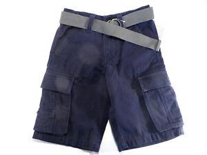 3cb956dfc73 Canyon River Blues Cargo Shorts Boys Navy Blue w Belt Gray Size 8 ...