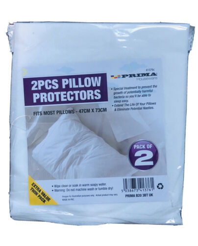 2x PILLOW PROTECTORS PILLOW COVERS