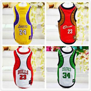 Dog-Vest-Pet-Clothing-Puppy-Clothes-Sport-Summer-Shirt-Basketball-jersey-XS-6XL