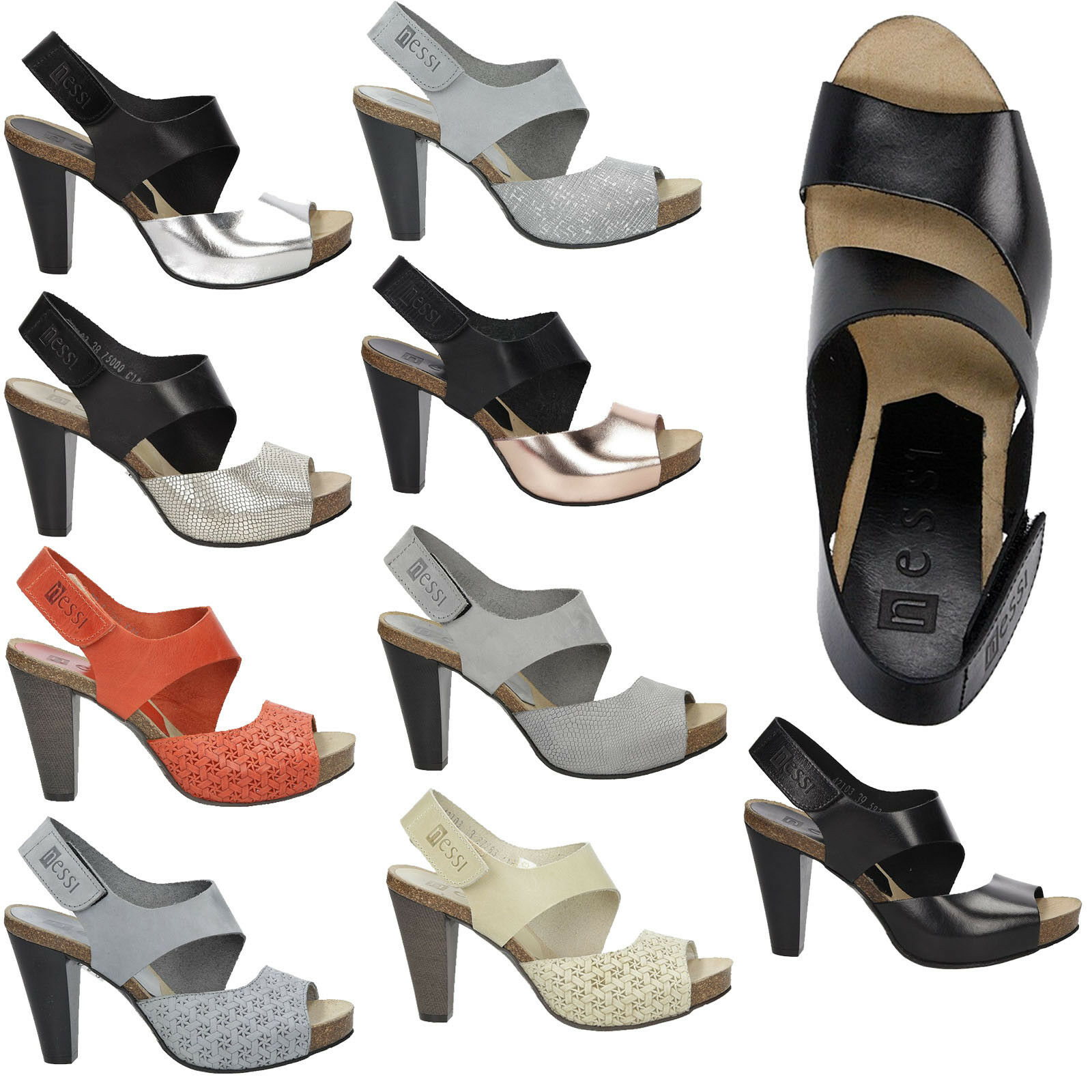 Femmes Sandales TAFF Velcro Talon Bloc ELEGANT Taille 36-40 Neuf