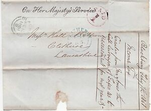 1851-OHMS-TAXES-WRAPPER-TO-CLITHEROE-RED-ENCIRCLED-PAID-1-BLACKBURN-UPP-LANCS