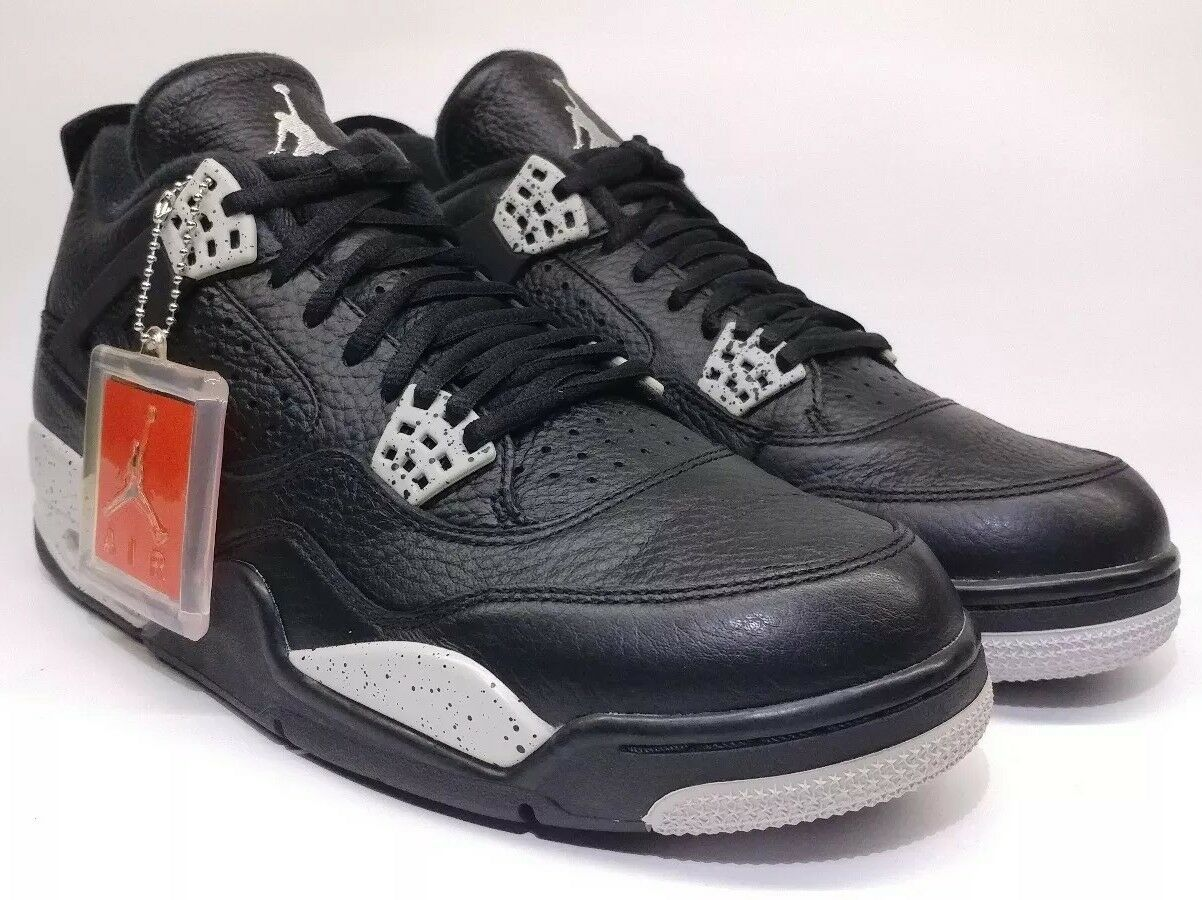 Nike 2015 Air Jordan 4 IV Retro Oreo Tech Grey Size 10.5. 314254-003 1 2 3 5 6