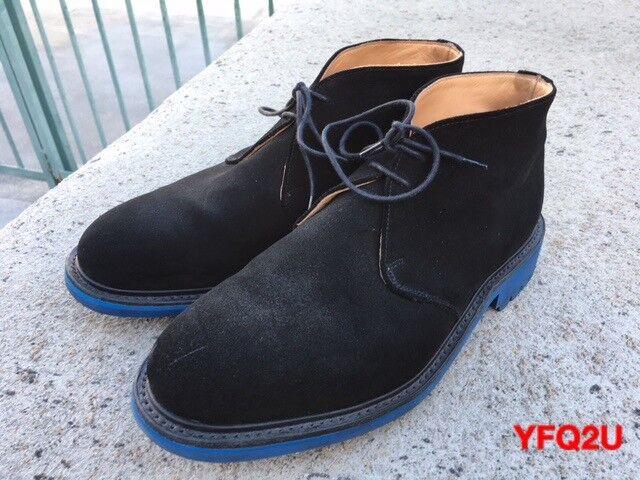MARK McNAIRY nuevo Amsterdam talla-11 un poco azul Commando Lug Sole Chukka botas UK-10