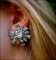 Kate Spade Rare Electric Gardens Earrings Wedding Crystal Formal Huge Bridal