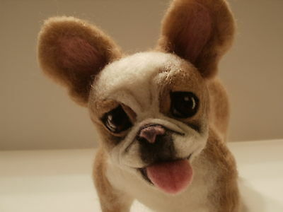 Custom Needle Felted French Bulldog or Any Dog Your Choice By Artist Lacharmour