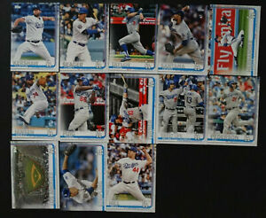 2019-Topps-Series-1-Los-Angeles-Dodgers-Team-Set-13-Baseball-Cards