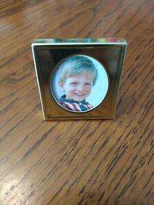 "Cute Vintage Brass Small Standing Frame Kickstand Back Metal 1.5"" x 1.5"" NEW"