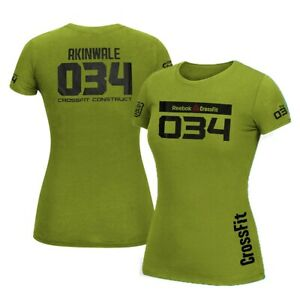 Reebok-2012-CrossFit-Games-034-Elisabeth-Akinwale-Women-039-s-Olive-T-Shirt